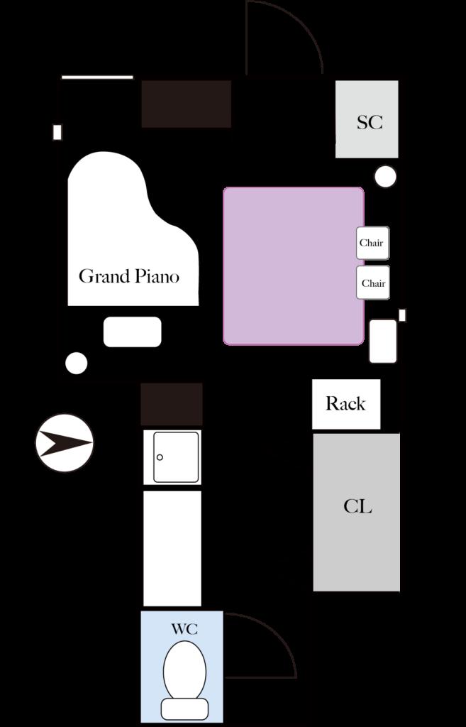 ピアノスタジオ間取り図